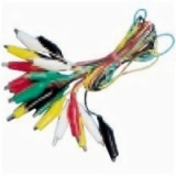 Jumper Test Lead Set 10 Pairs 55MM Alligator Clips 10 Wires 5 Colors AD-4031
