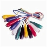 Jumper Test Lead Set 6 Pairs 55MM Alligator Clips 6 Wires 6 Colors AD-4033
