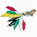 Jumper Test Lead Set 5 Pairs 55MM Alligator Clips 5 Wires 5 Colors AD-4032