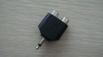 3.5 Mono/Stereo Plug To 2 RCA Jacks AD-5008