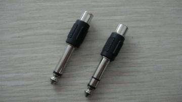 6.35MM Mono/Stereo Plug To RCA Jack AD-5014