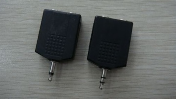 3.5MM Mono/Stereo Plug TO 2 * 6.35MM Mono/Stereo Jacks AD-5023