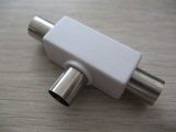 PAL Plug To 2 * PAL Jack,Plastic AD-1145