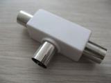 PAL Jack To 2 * PAL Plug,Plastic T Type AD-1146