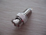 BNC Male Bulkhead for RG58, RG6 cable AD-6001
