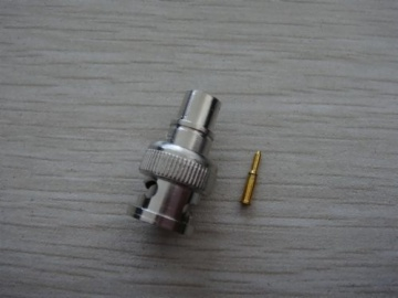 BNC Male Molded & Crimp for RG58, RG59 or RG6 cable AD-0084