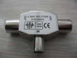 TV Splitter-TV Plug To 2 * TV Jack AD-3052
