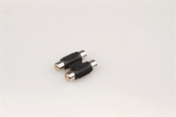 2 RCA jacks to 2 RCA jacks adapter,used for broadcast
