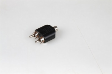 RCA jack to 2RCA plugs adapter,used for broadcast