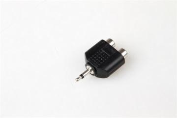 3.5MM mono plug to 2 RCA jacks adapter,used for radio